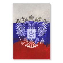 Russia Painting Flag Stretched Canvas Wall Decor Flagdesignproducts.com