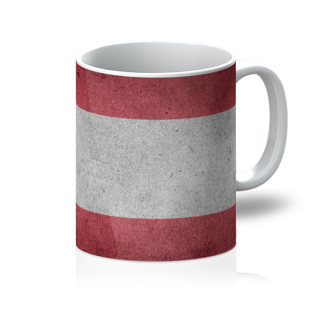 Vintage Grunge Austria Flag Mug Homeware Flagdesignproducts.com