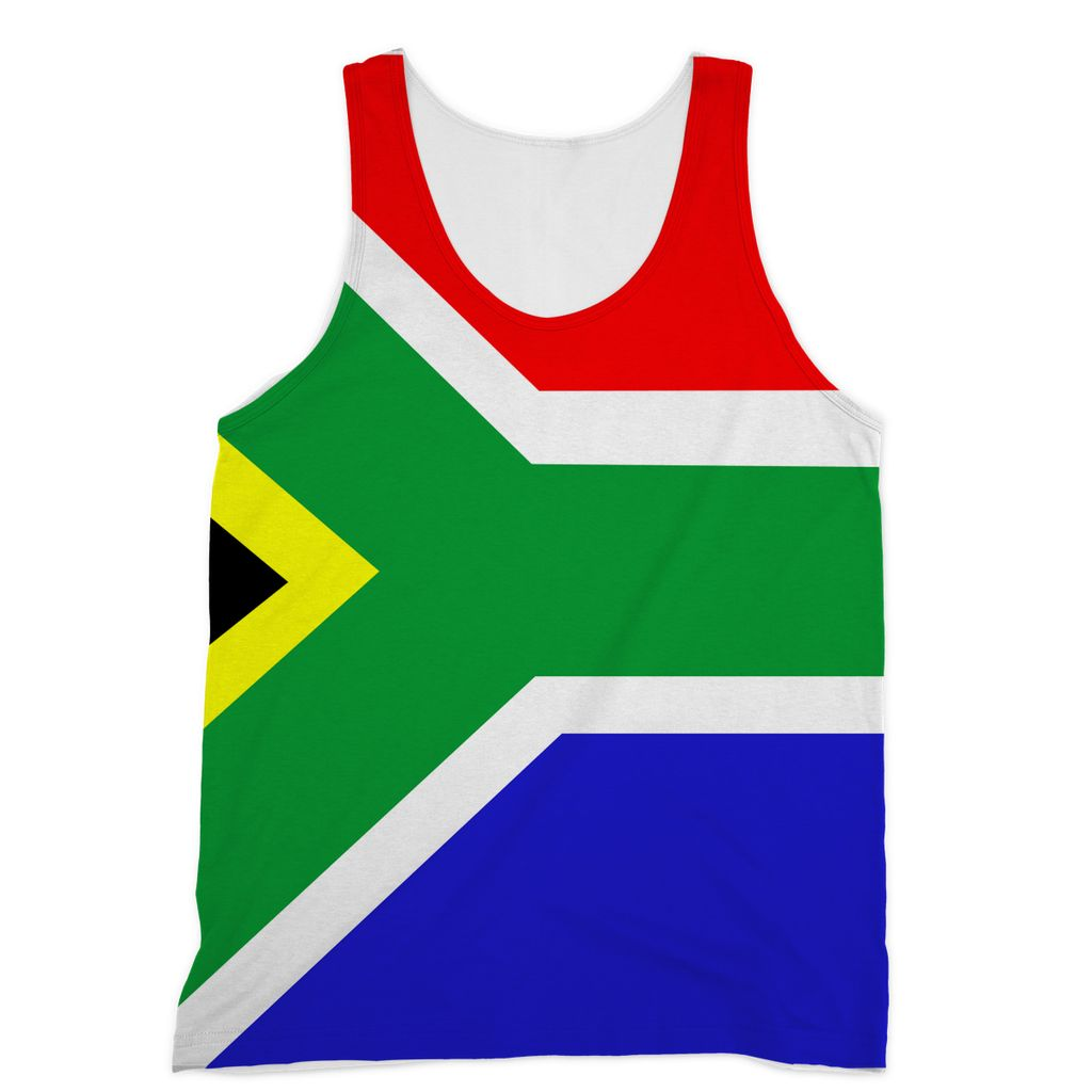 Flag Of South Africa Sublimation Vest Apparel Flagdesignproducts.com