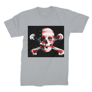 Usa Flag Pirate Unisex Fine Jersey T-Shirt Apparel Flagdesignproducts.com
