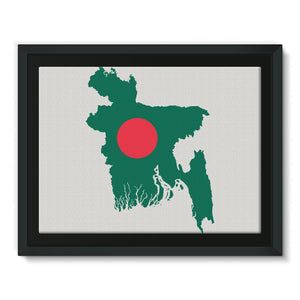 Bangladesh Continent Flag Framed Canvas Wall Decor Flagdesignproducts.com