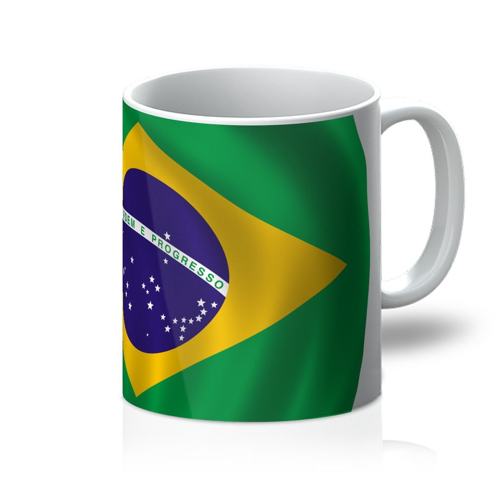 Waving Brazil Flag Mug Homeware Flagdesignproducts.com