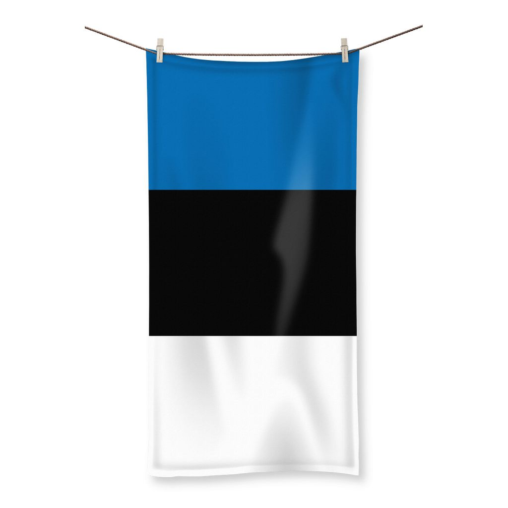Basic Estonia Flag Beach Towel Homeware Flagdesignproducts.com