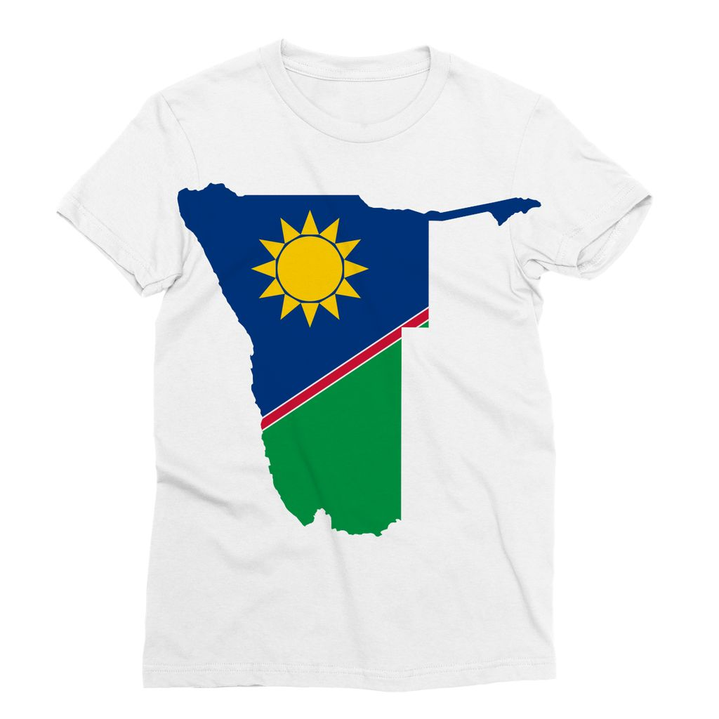 Namibia Continent Flag Sublimation T-Shirt Apparel Flagdesignproducts.com