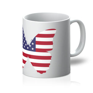 Usa Flag Butterfly Mug Homeware Flagdesignproducts.com