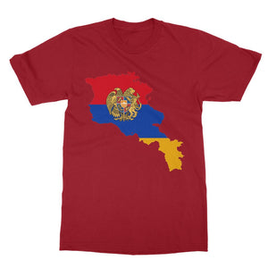 Armenia Continent Flag Softstyle Ringspun T-Shirt Apparel Flagdesignproducts.com