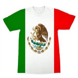 Flag Of Mexico Sublimation T-Shirt Apparel Flagdesignproducts.com