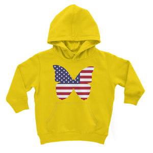 Usa Flag Butterfly Kids Hoodie Apparel Flagdesignproducts.com