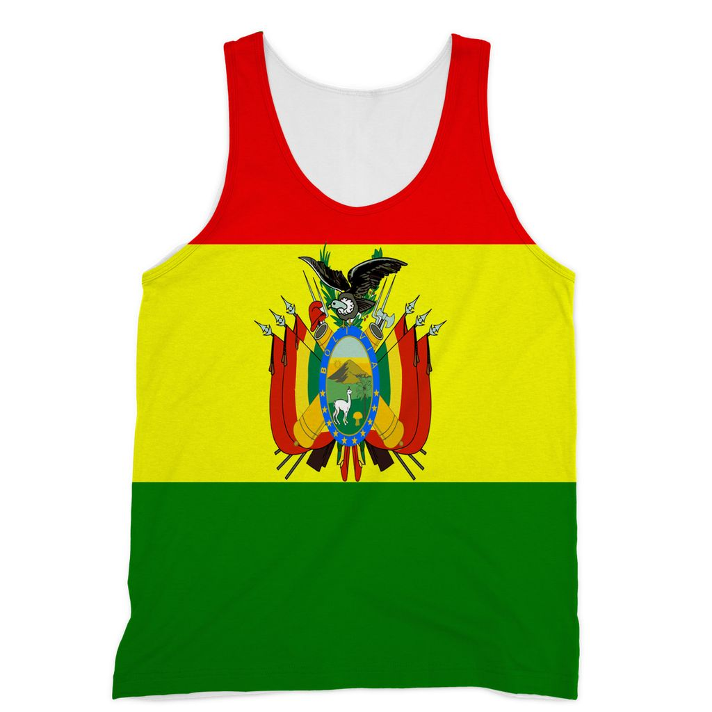 Flag Of Bolivia Sublimation Vest Apparel Flagdesignproducts.com