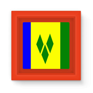 Flag Of Vincent & Grenadines Magnet Frame Homeware Flagdesignproducts.com
