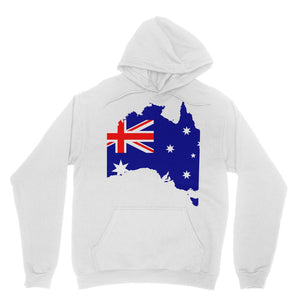 Australia Continent Flag Heavy Blend Hooded Sweatshirt Apparel Flagdesignproducts.com