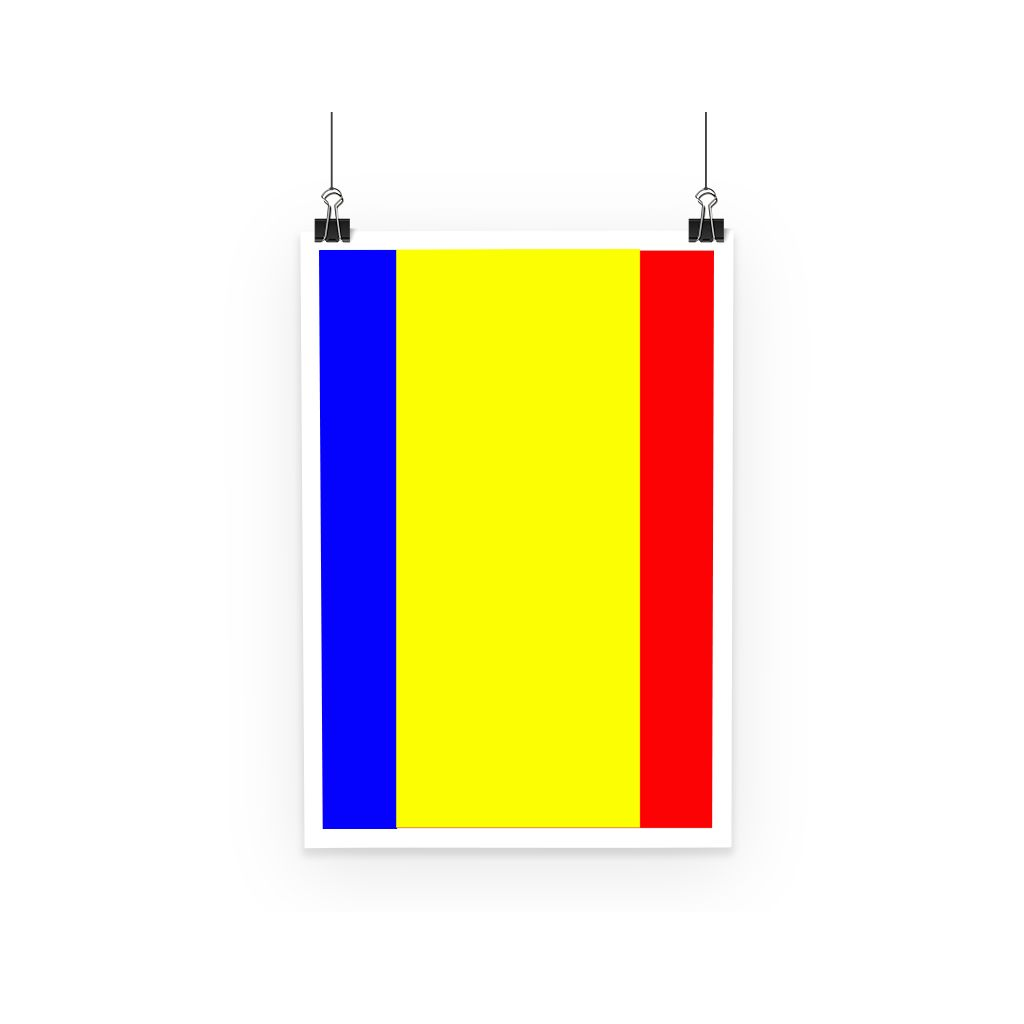 Flag Of Chad Poster Wall Decor Flagdesignproducts.com