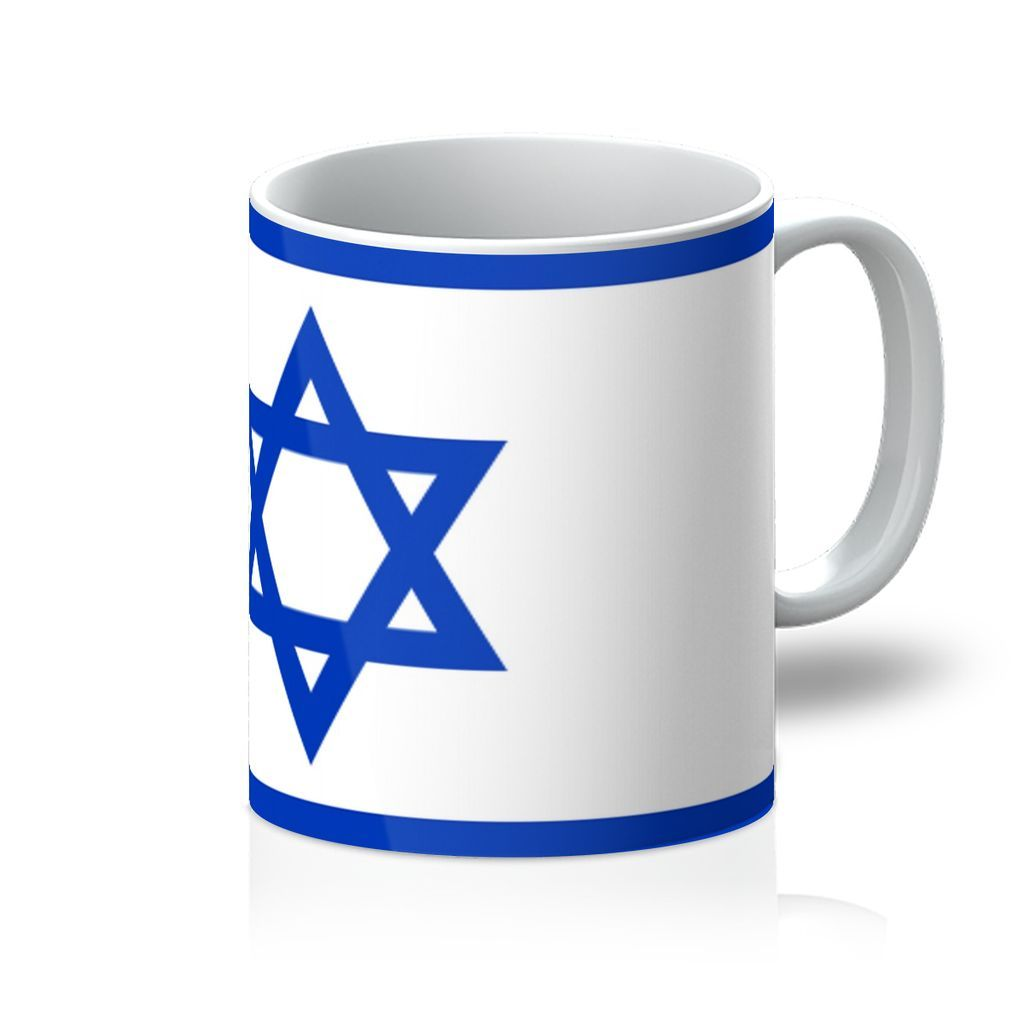 Basic Isreal Flag Mug Homeware Flagdesignproducts.com