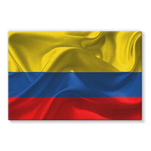 Waving Fabric National Flag Stretched Canvas Wall Decor Flagdesignproducts.com
