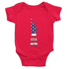 Usa Flag State Of Liberty Baby Bodysuit Apparel Flagdesignproducts.com