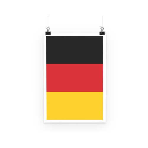 Basic Flag Of Germany Poster Wall Decor Flagdesignproducts.com