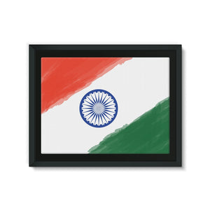 Watercolor India Flag Framed Canvas Wall Decor Flagdesignproducts.com
