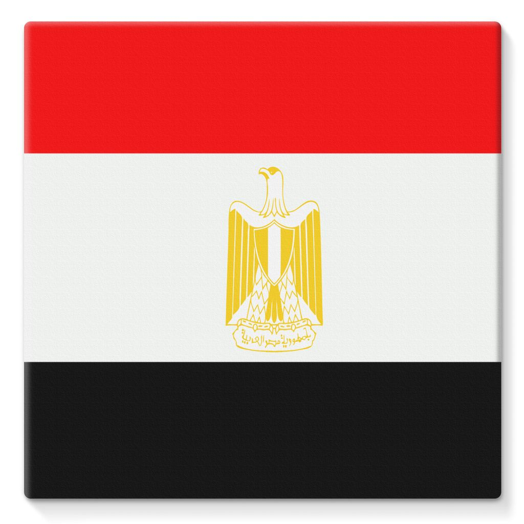 Flag Of Egypt Stretched Eco-Canvas Wall Decor Flagdesignproducts.com
