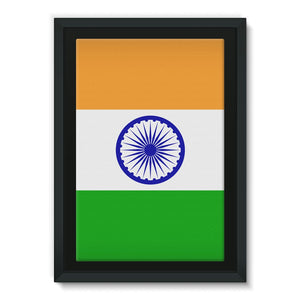 Basic India Flag Framed Canvas Wall Decor Flagdesignproducts.com