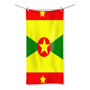 Flag Of Grenada Beach Towel Homeware Flagdesignproducts.com