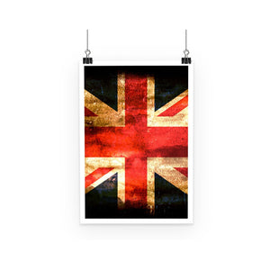 Dark Uk Flag Poster Wall Decor Flagdesignproducts.com
