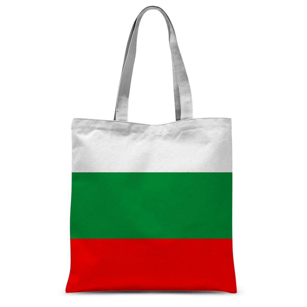 Basic Bulgaria Flag Sublimation Tote Bag Accessories Flagdesignproducts.com
