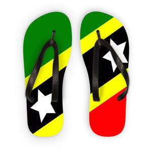 Flag Of Saint Kitts & Nevis Flip Flops Accessories Flagdesignproducts.com