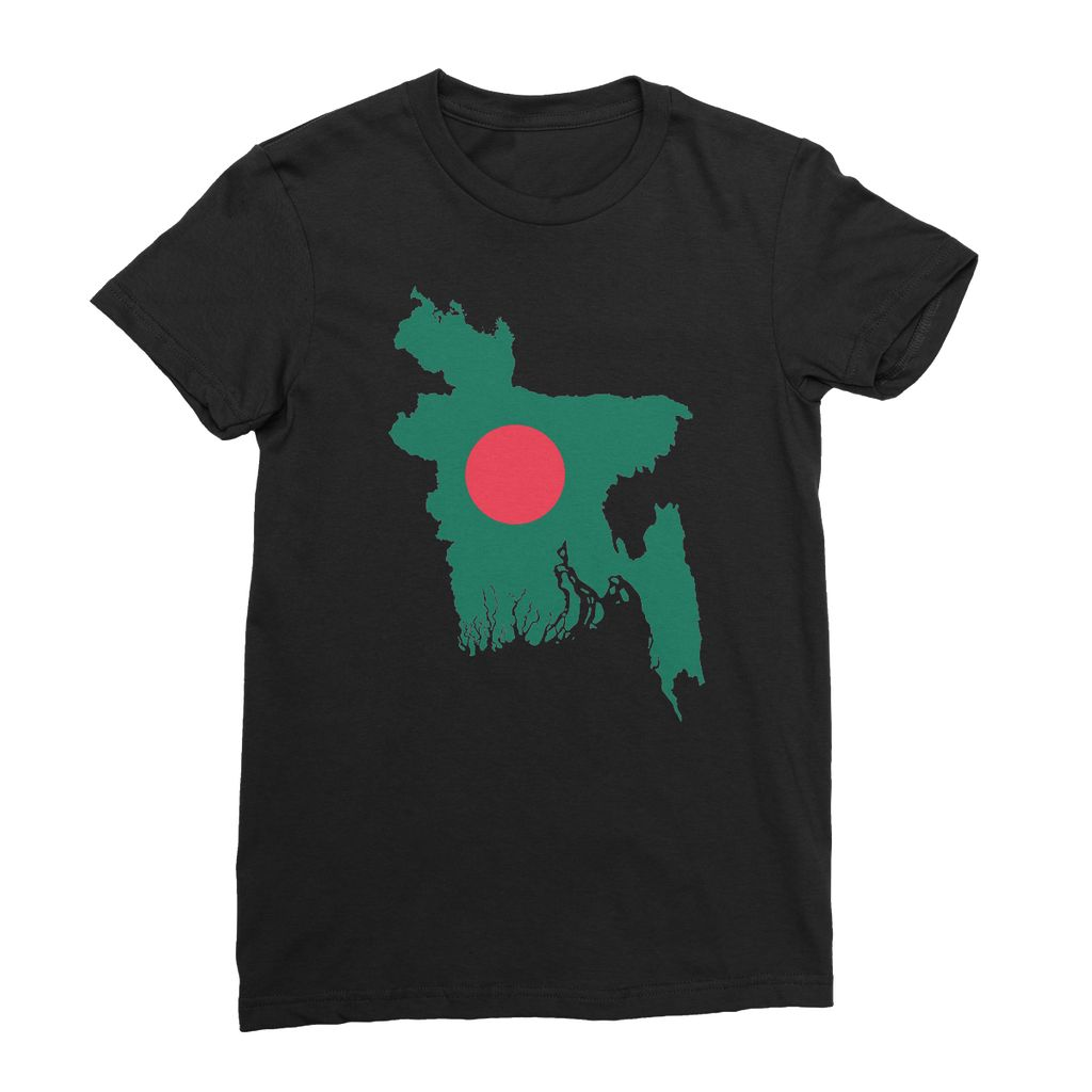 Bangladesh Continent Flag Womens Fine Jersey T-Shirt Apparel Flagdesignproducts.com