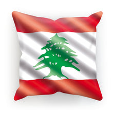 Waving Lebanon Flag Cushion Homeware Flagdesignproducts.com