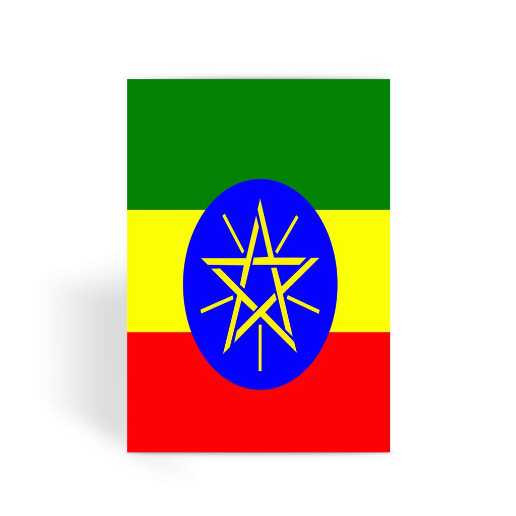 Flag Of Ethiopia Greeting Card Prints Flagdesignproducts.com