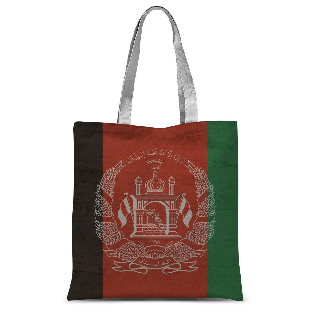 Afganistan Stone Wall Flag Sublimation Tote Bag Accessories Flagdesignproducts.com