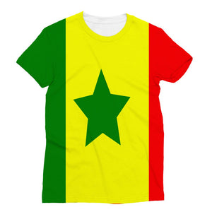 Flag Of Senegal Sublimation T-Shirt Apparel Flagdesignproducts.com