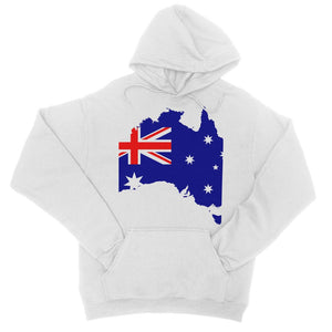 Australia Continent Flag College Hoodie Apparel Flagdesignproducts.com
