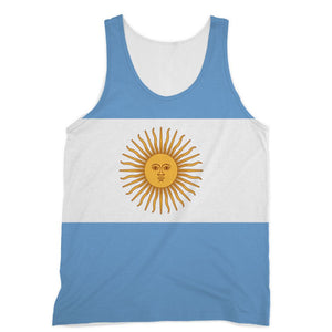 Argentina Flag Sublimation Vest Apparel Flagdesignproducts.com