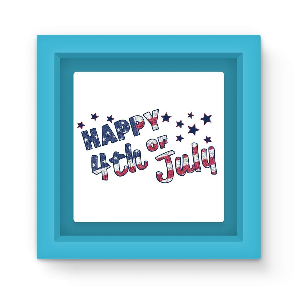 4Th July Usa Text Flag Magnet Frame Homeware Flagdesignproducts.com