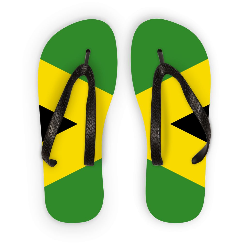 National Flag Of Jamaica Flip Flops Accessories Flagdesignproducts.com
