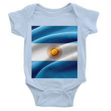 Waving Fabric Argentina Flag Baby Bodysuit Apparel Flagdesignproducts.com