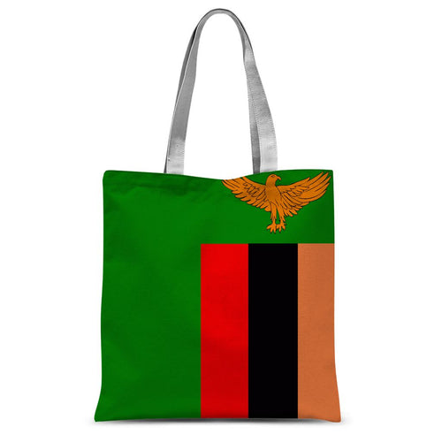 Flag Of Zambia Sublimation Tote Bag Accessories Flagdesignproducts.com