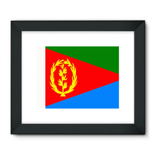 Flag Of Eritrea Framed Fine Art Print Wall Decor Flagdesignproducts.com