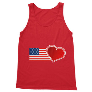 Usa Flag And Heart Softstyle Tank Top Apparel Flagdesignproducts.com