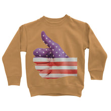Usa Hand And Finger Flag Kids Sweatshirt Apparel Flagdesignproducts.com
