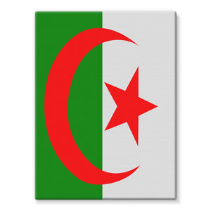Flag Of Algeria Stretched Canvas Wall Decor Flagdesignproducts.com