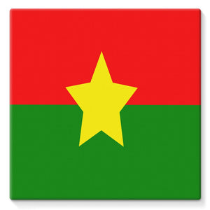 Flag Of Burkina Faso Stretched Canvas Wall Decor Flagdesignproducts.com