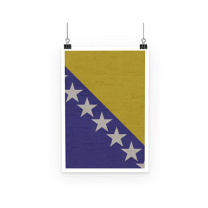 Bosnia & Herzegovina Poster Wall Decor Flagdesignproducts.com