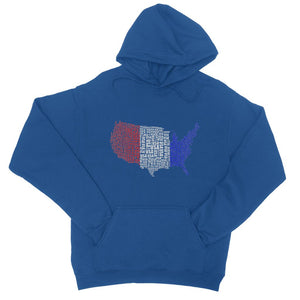 Usa Text Continent Flag College Hoodie Apparel Flagdesignproducts.com