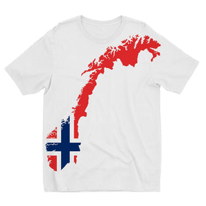 Norway Continent Flag Kids Sublimation T-Shirt Apparel Flagdesignproducts.com