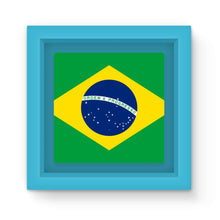Basic Brazil Flag Magnet Frame Homeware Flagdesignproducts.com