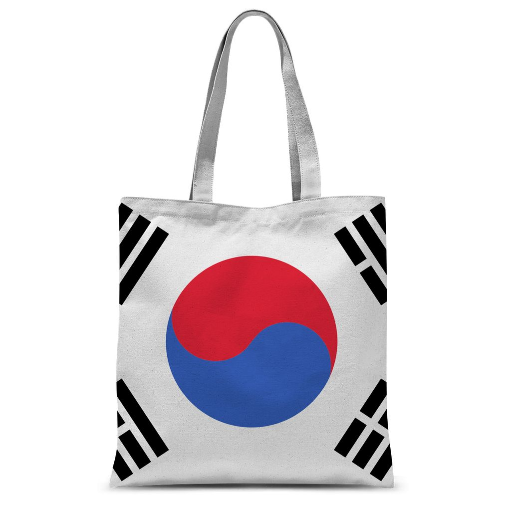 Basic South Korea Flag Sublimation Tote Bag Accessories Flagdesignproducts.com