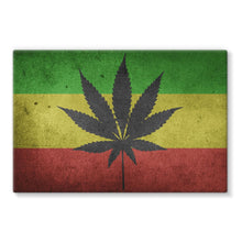 Green Yellow & Red Cannabis Stretched Canvas Wall Decor Flagdesignproducts.com