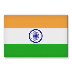 Basic India Flag Stretched Eco-Canvas Wall Decor Flagdesignproducts.com